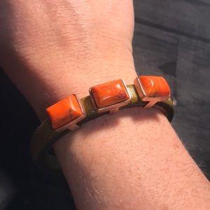 Jay King Mine Finds DTR bracelet green & coral